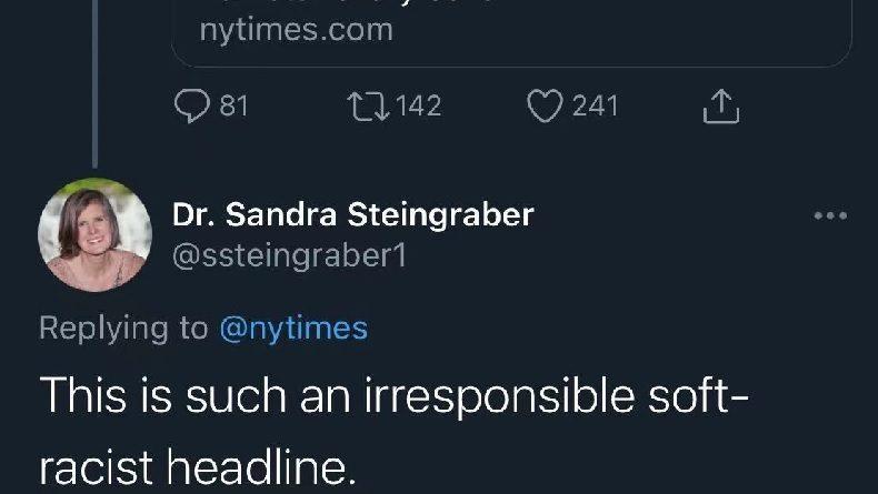 《纽约时报》推特标题涉种族歧视,美国科学家留言批驳